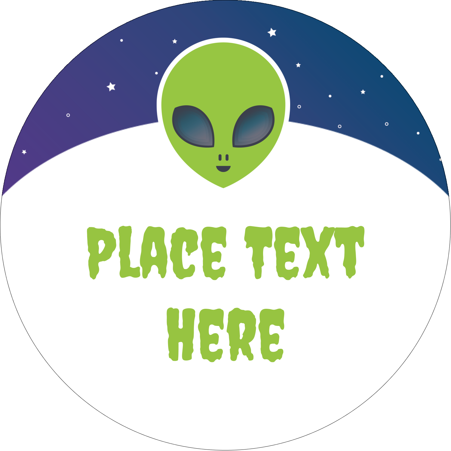 "2½"" Round Label - Alien Party"