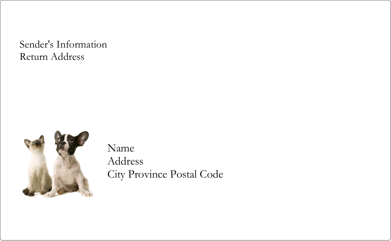 "8⅛"" x 5"" Shipping Label - Animals Pet Care"