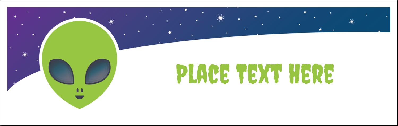 """3½"""" x 11"""" Tent Card - Alien Party"""