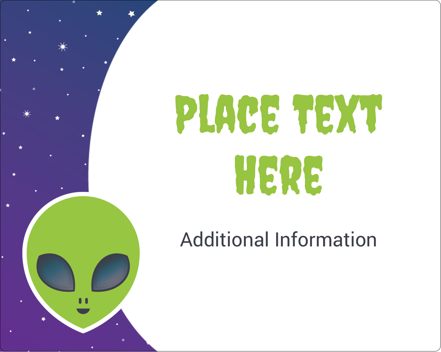 "3"" x 3¾"" Rectangular Label - Alien Party"