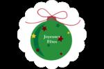 Boule étoilée Étiquettes festonnées - gabarit prédéfini. <br/>Utilisez notre logiciel Avery Design & Print Online pour personnaliser facilement la conception.