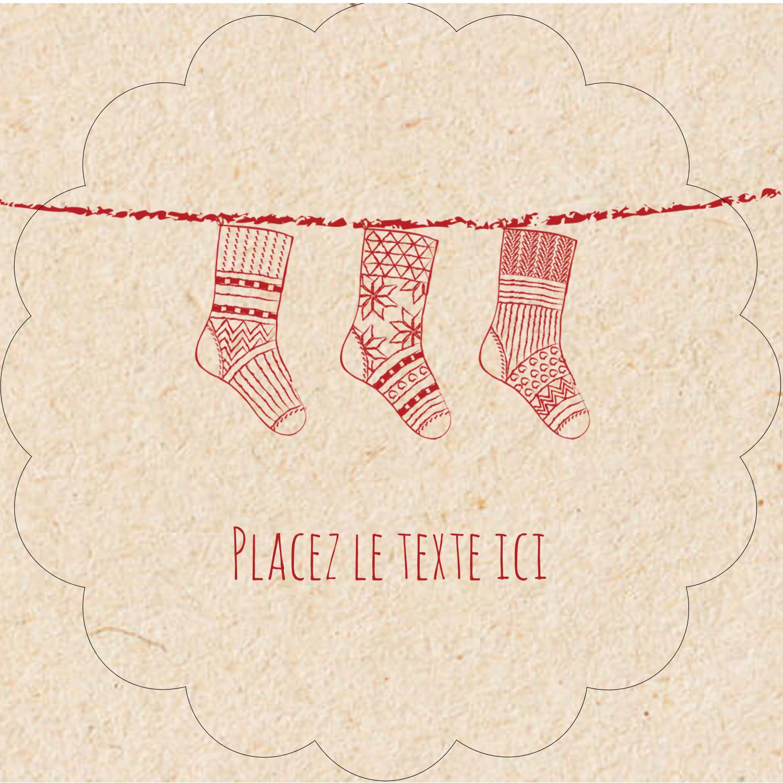 """2½"""" Diameter Étiquettes rondes - Bas de Noël suspendus"""