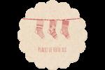 Bas de Noël suspendus Étiquettes rondes - gabarit prédéfini. <br/>Utilisez notre logiciel Avery Design & Print Online pour personnaliser facilement la conception.