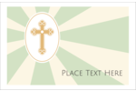 A pious design of decorative Latin cross surrounded by rays of light for Easter