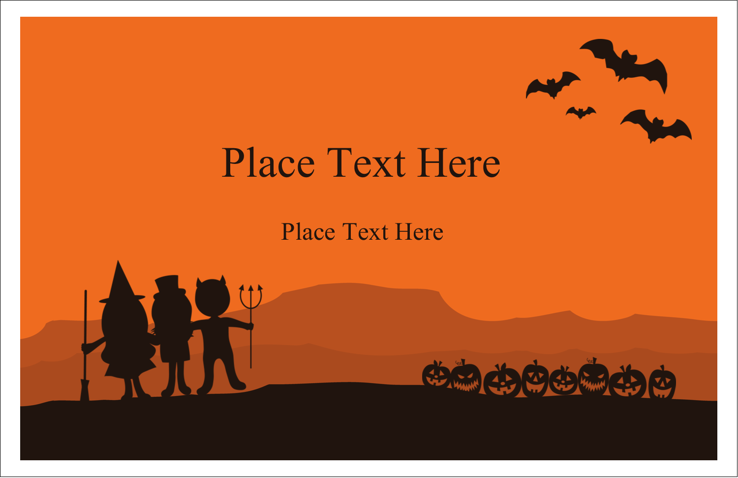 "5½"" x 8½"" Greeting Card - Halloween Kids"