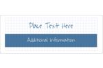 Add it all up with this blue graph paper design.