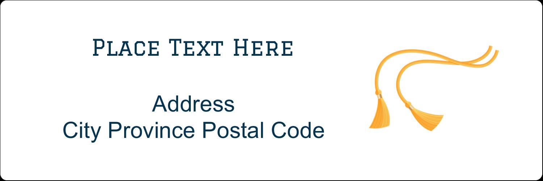 """1⅓"""" x 4"""" Address Label - Grad Tassel"""