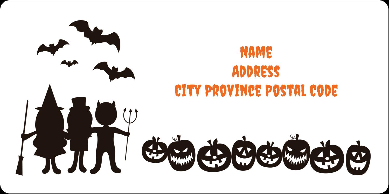 "2"" x 4"" Shipping Label - Halloween Kids"
