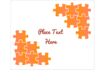 Piece together your event with this orange puzzle template.