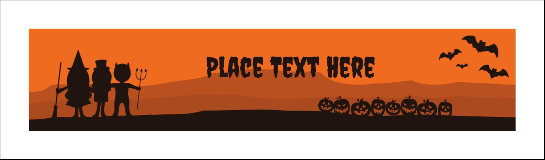 """2½"""" x 8½"""" Tent Card - Halloween Kids"""