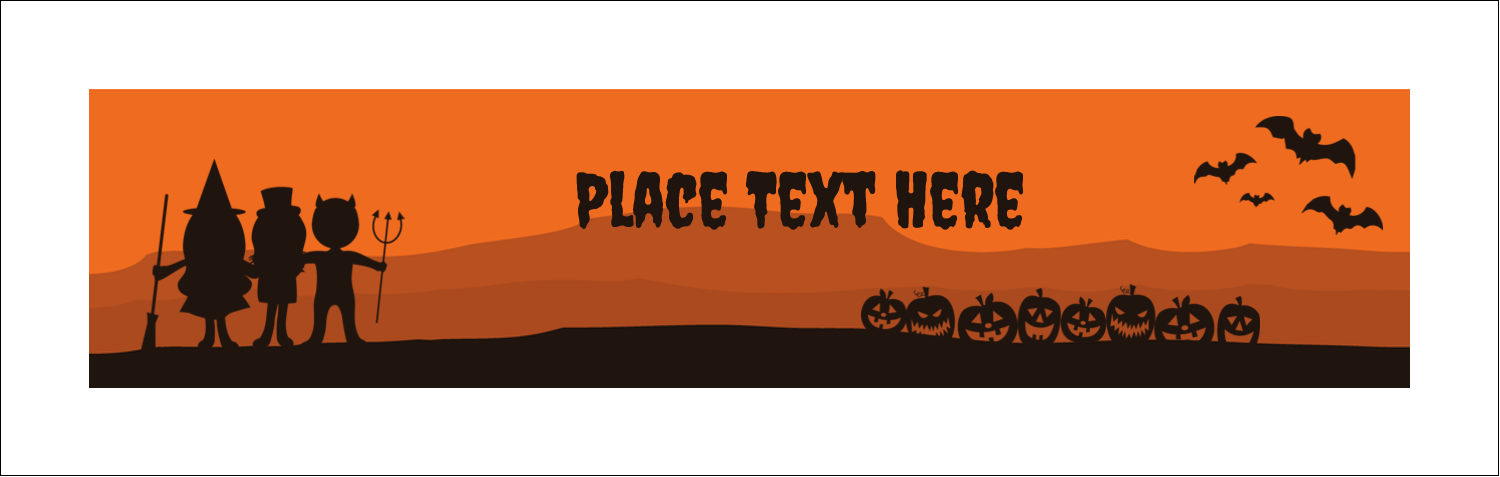 "3½"" x 11"" Tent Card - Halloween Kids"