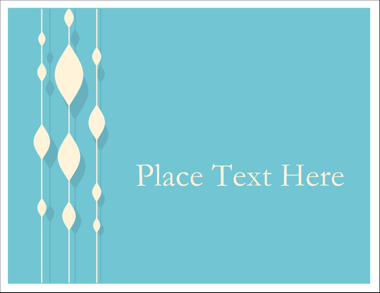 "5½"" x 4¼"" Note Card - Blue Bead Curtain"