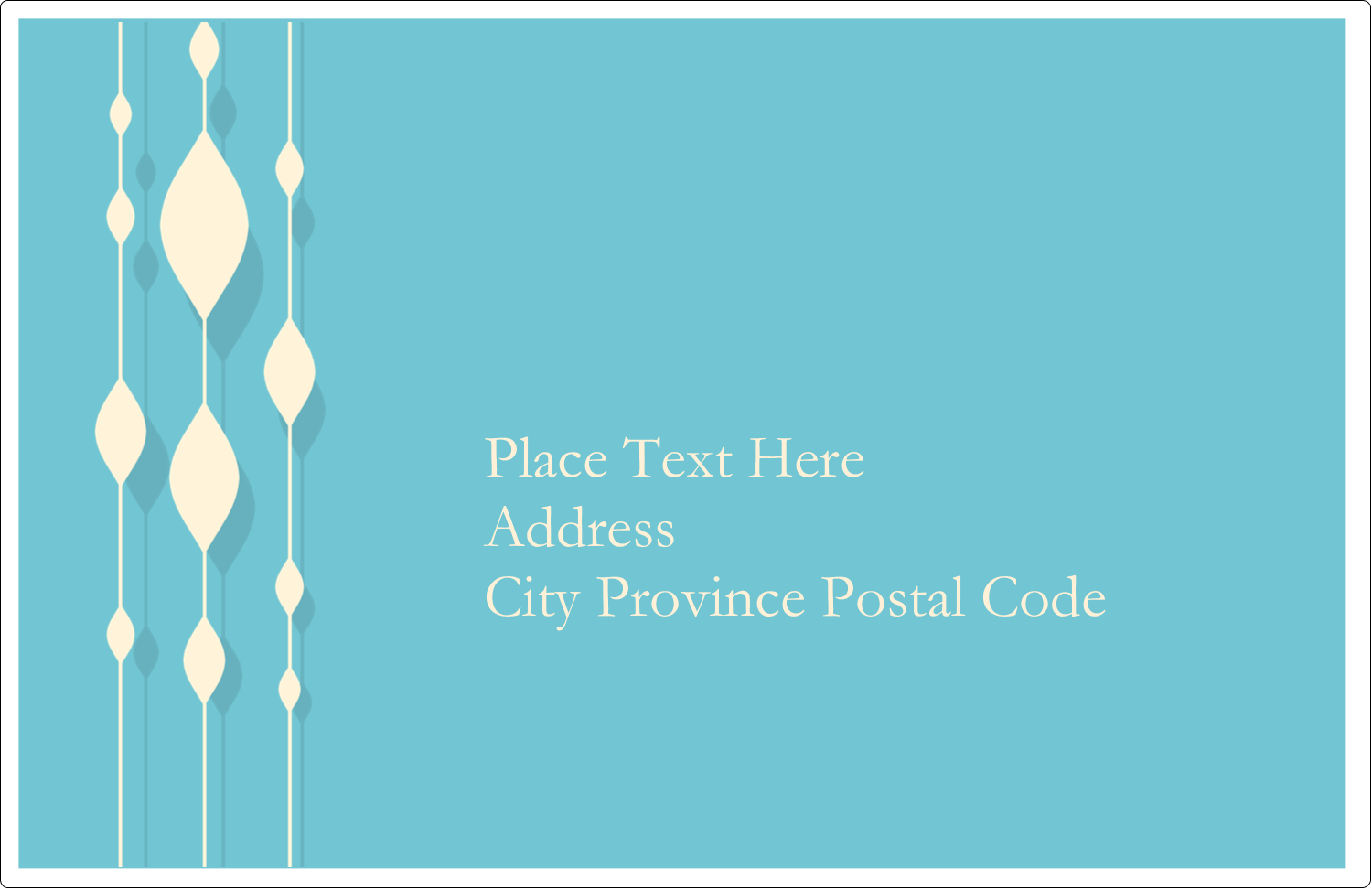 """5½"""" x 8½"""" Shipping Label - Blue Bead Curtain"""