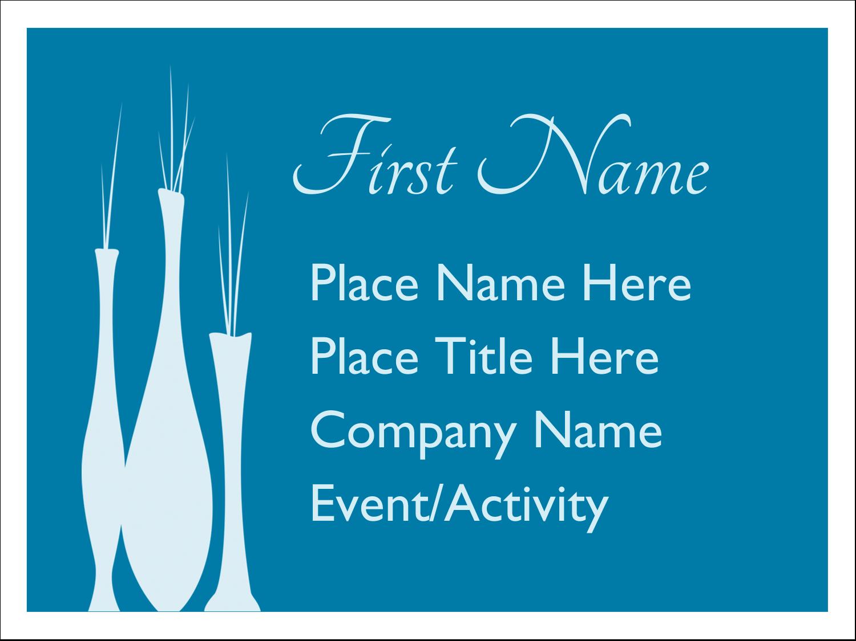 "3"" x 4"" Name Tags - Interior Design Vases"