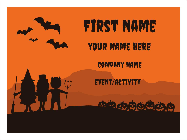 "3"" x 4"" Name Tags - Halloween Kids"