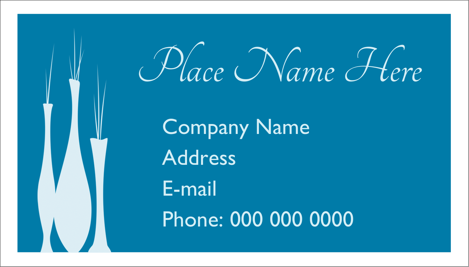 "2"" x 3½"" Business Card - Interior Design Vases"