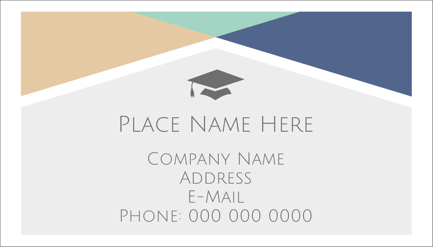 "2"" x 3½"" Business Card - Grad Colors"
