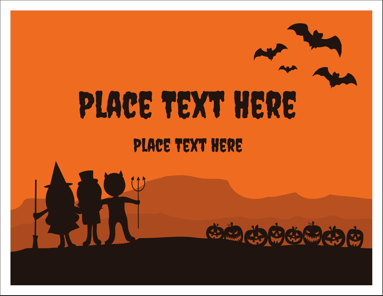 "5½"" x 4¼"" Note Card - Halloween Kids"