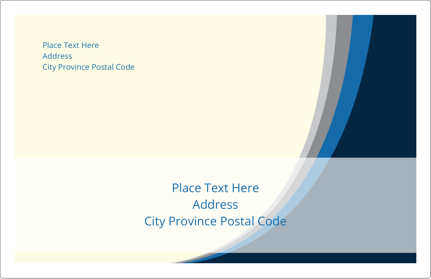 """5½"""" x 8½"""" Shipping Label - Blue Wave"""