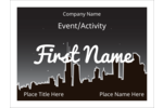 Set the mood with the predesigned city at night template.