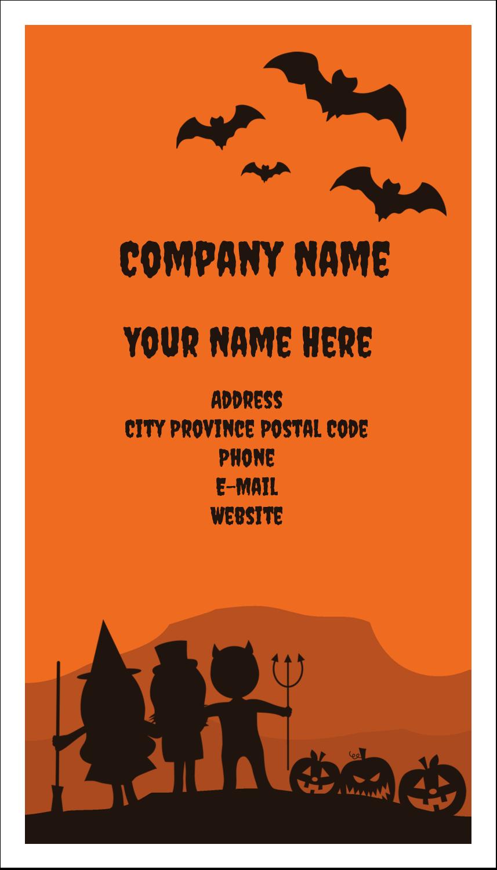 """3½"""" x 2"""" Business Card - Halloween Kids"""
