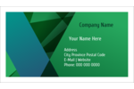 Cash in with this predesigned green-hued template.