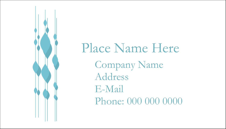 """2"""" x 3½"""" Business Card - Blue Bead Curtain"""