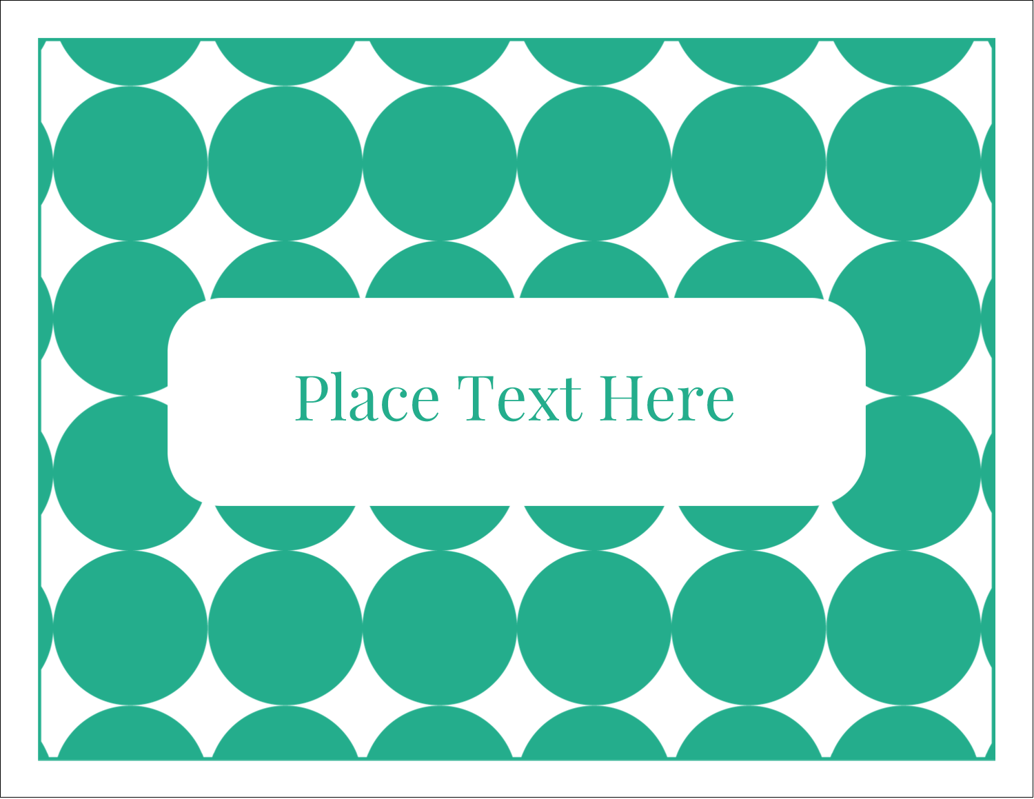 "5½"" x 4¼"" Note Card - Teal Green Circles"
