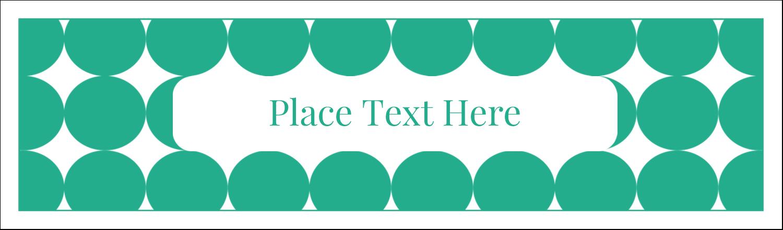 """2½"""" x 8½"""" Tent Card - Teal Green Circles"""