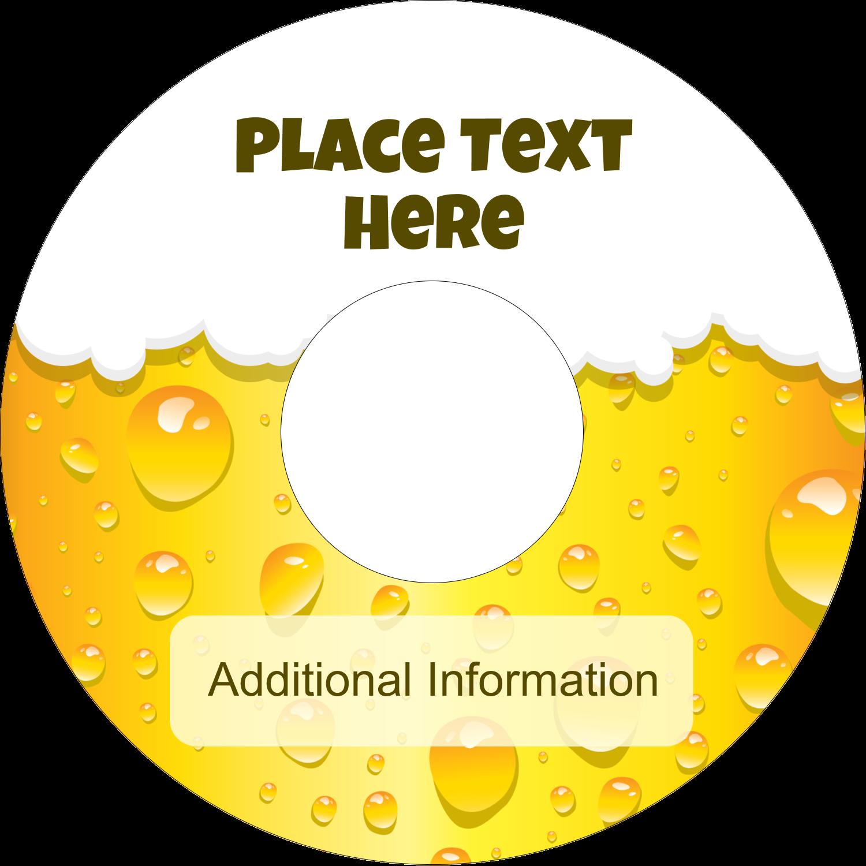 """4.65"""" CD-DVD Label - Beer Image"""