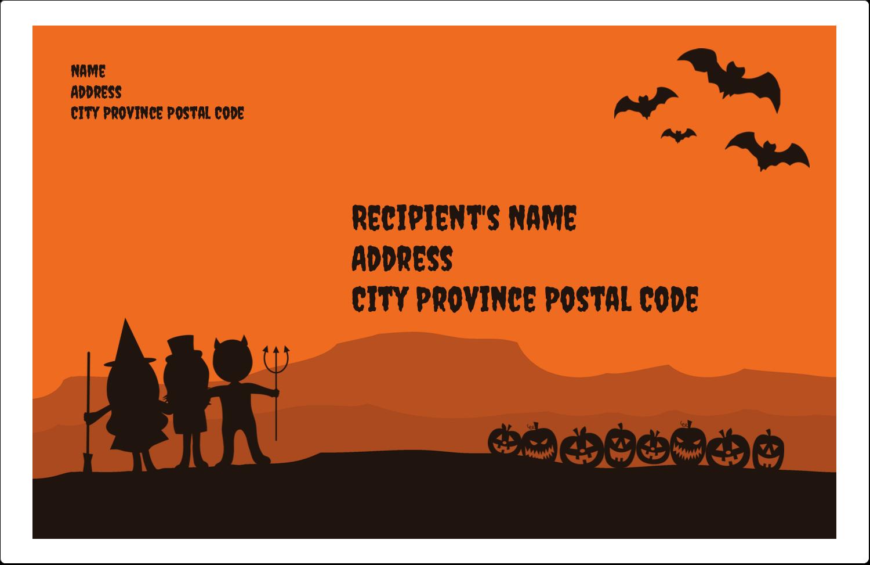"5½"" x 8½"" Shipping Label - Halloween Kids"