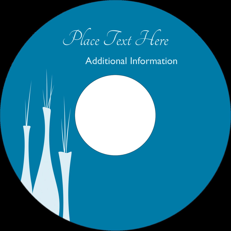 "4.65"" CD-DVD Label - Interior Design Vases"