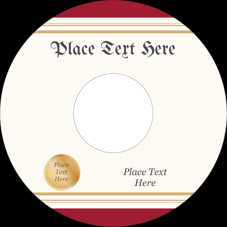 """4.65"""" CD-DVD Label - Grad Diploma"""