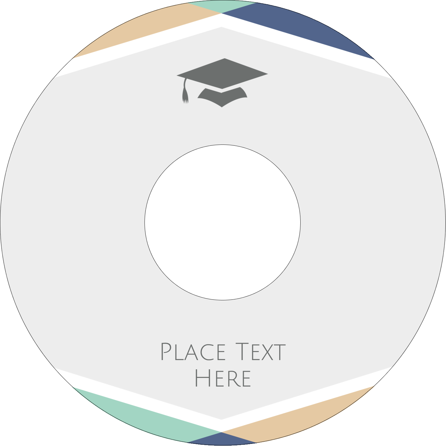 "4.65"" CD-DVD Label - Grad Colors"