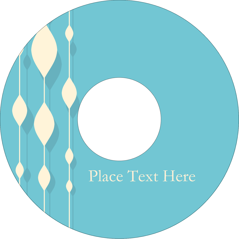 "4.65"" CD-DVD Label - Blue Bead Curtain"