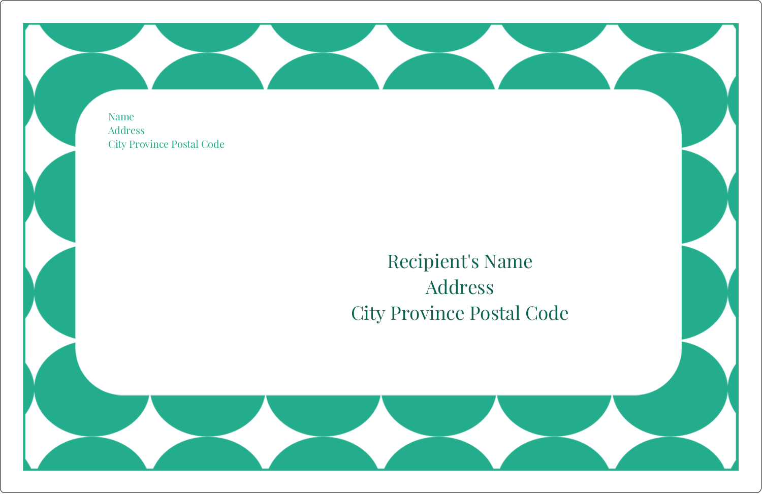 "5½"" x 8½"" Shipping Label - Teal Green Circles"