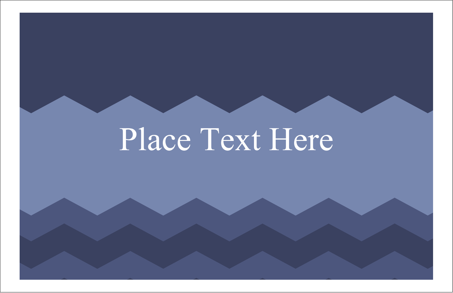 "5½"" x 8½"" Greeting Card - Blue Chevron"