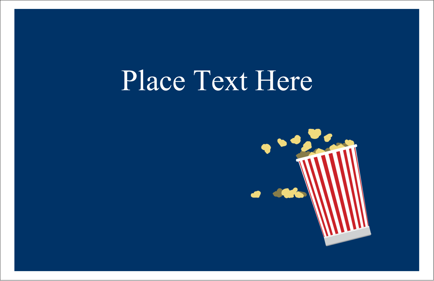 "5½"" x 8½"" Greeting Card - Movie Popcorn"