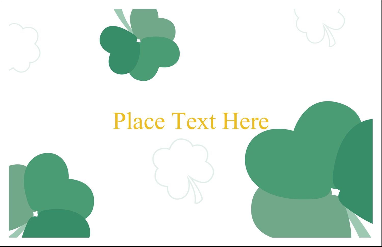 "5½"" x 8½"" Greeting Card - St. Patrick's Heart Shamrocks"