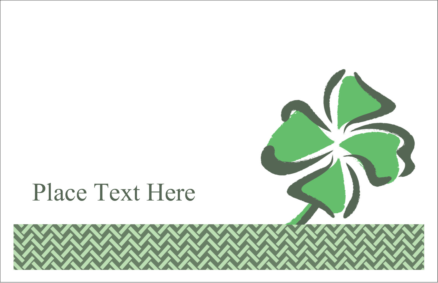 "5½"" x 8½"" Greeting Card - St. Patrick's Shamrock"