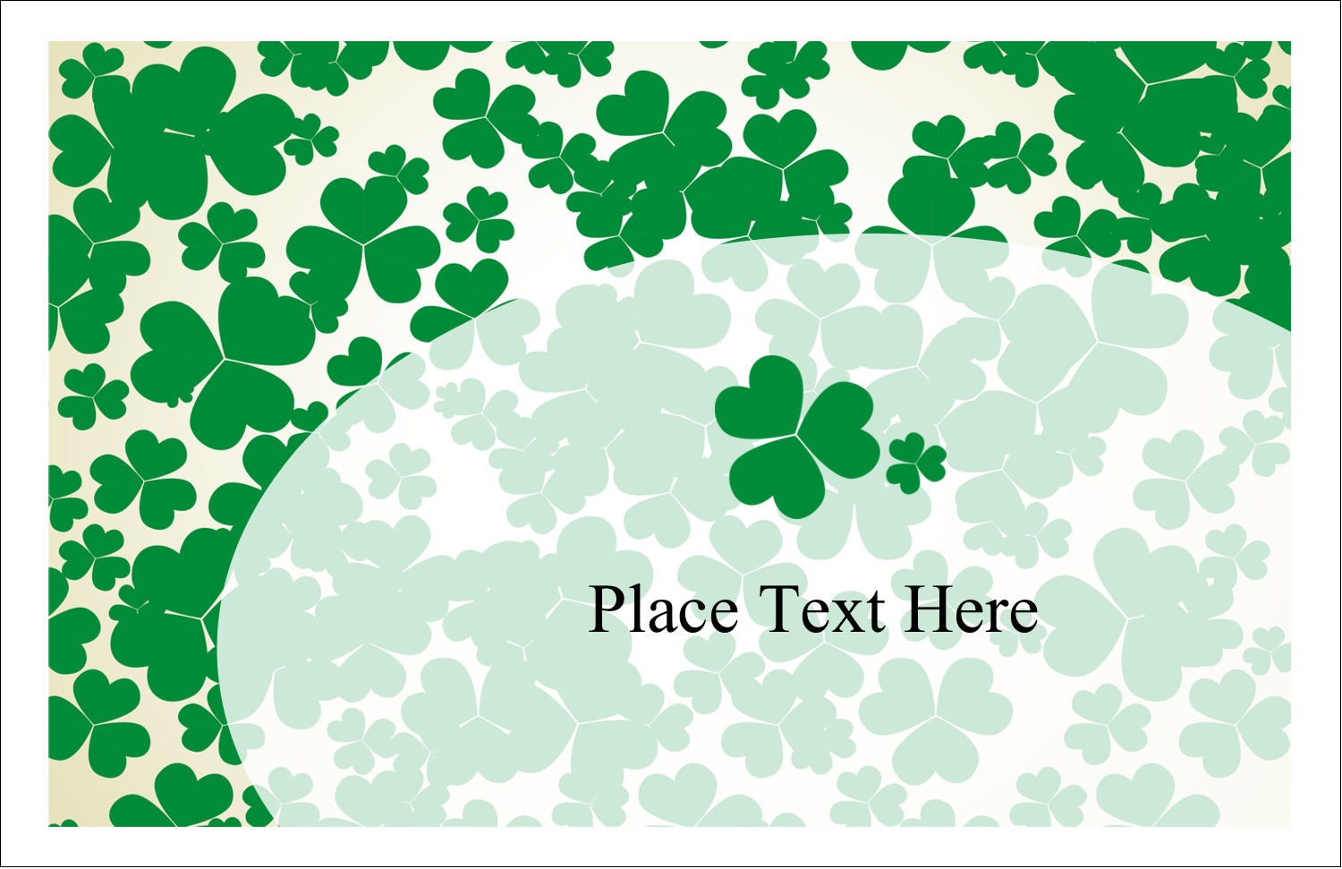 "5½"" x 8½"" Greeting Card - St. Patrick's Shamrock Background"