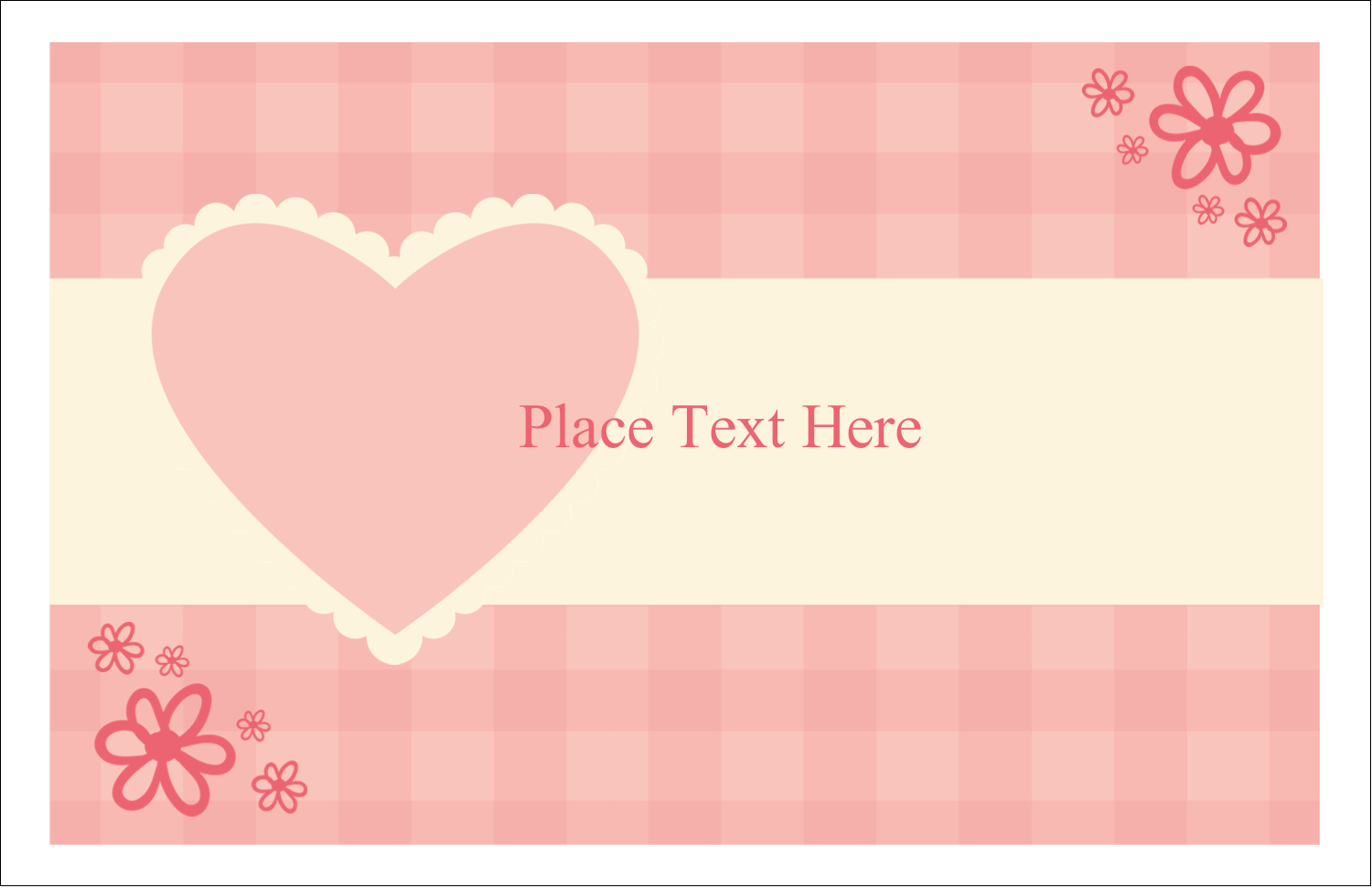 "5½"" x 8½"" Greeting Card - Valentine Gingham"