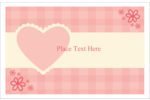 Add instant charm to custom projects with pre-designed Valentine Gingham templates.