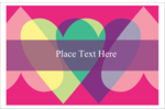 Add love to custom projects with printable pre-designed Valentine Heart Row templates.