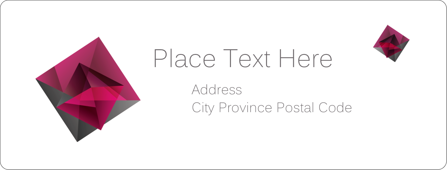 "1"" x 2⅝"" Address Label - Ruby Gem"