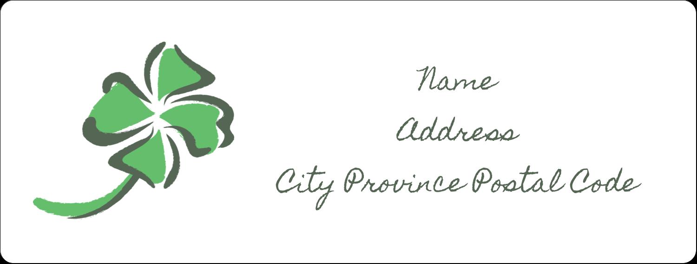 "1"" x 2⅝"" Address Label - St. Patrick's Shamrock"