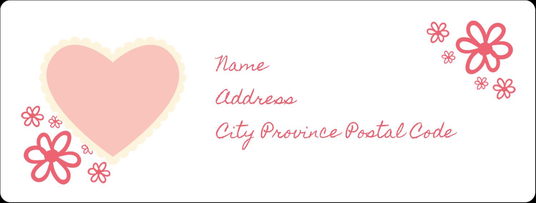 "1"" x 2⅝"" Address Label - Valentine Gingham"