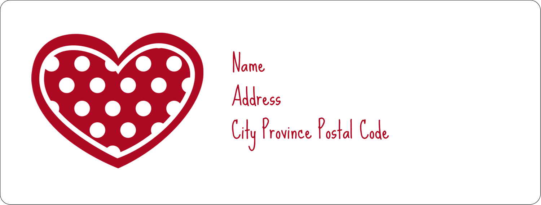 "1"" x 2⅝"" Address Label - Valentine Heart Pattern"