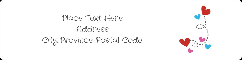 "1"" x 4"" Address Label - Valentine Black Background"