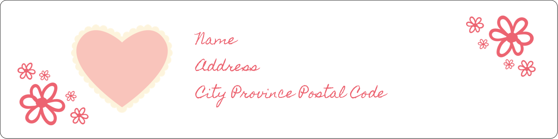 "1"" x 4"" Address Label - Valentine Gingham"